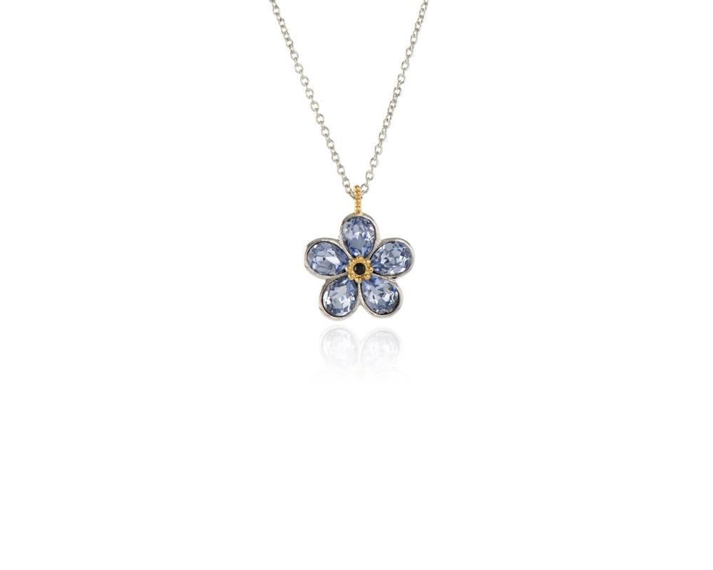 158854c42 Cachet Swarovski Crystal Forget-Me-Not Pendant Rhodium Lavender ...