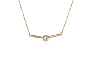 Cachet Swarovski Crystal  Lara Bar Necklace Gold