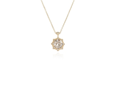 Swarovski Crystal  Becka Pendant  | Gold Light Silk