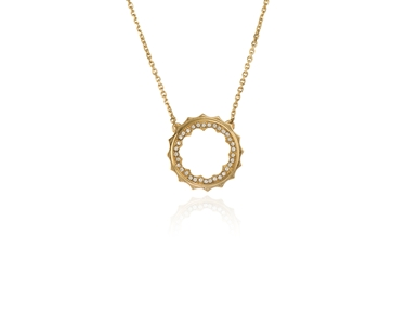 Swarovski Crystal  Taigi Medium Pendant  | Gold Crystal