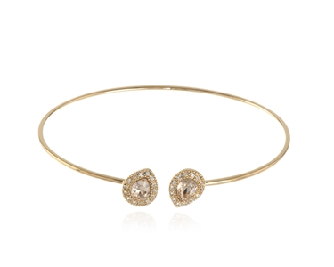 Cachet Swarovski Crystal  Tamsin Spring Bangle Gold