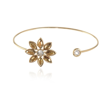 Cachet Swarovski Crystal  Valtina Spring Bangle Gold