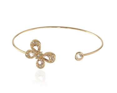 Cachet Swarovski Crystal  Buffy Spring Bangle Gold Butterfly