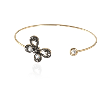 Cachet Swarovski Crystal  Buffy Spring Bangle Gold Crystal Butterfly