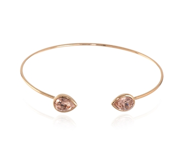 Cachet Swarovski Crystal  Ran Spring Bangle Pink Gold