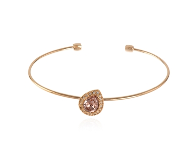 Cachet Swarovski Crystal  Talma Spring Bangle Pink Gold
