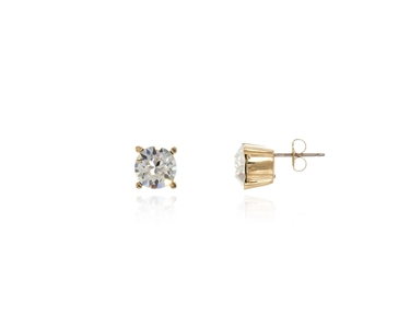Cachet Swarovski Crystal  Laine Pierced Earrings Gold