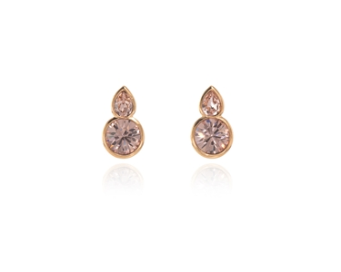 Cachet Swarovski Crystal  Elea Lever Back Earrings Pink Gold