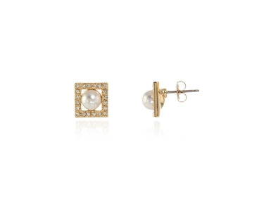 Cachet Swarovski Crystal  Thisbe Pierced Earrings Gold