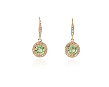 Cachet Swarovski Crystal  Dara Lever Back Earrings Gold