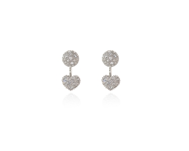 Cachet Swarovski Crystal  Sabina Pierced Earrings Rhodium Crystal