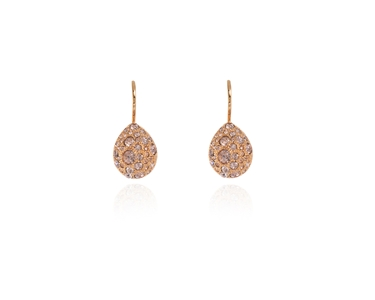 Cachet Swarovski Crystal  Parisa Lever Back Earrings Pink Gold