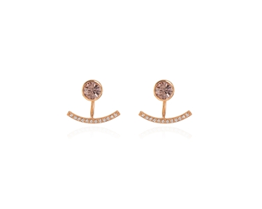 Cachet Swarovski Crystal  Haile Pierced Earrings Pink Gold
