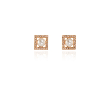 Cachet Swarovski Crystal  Thisbe Pierced Earrings Pink Gold