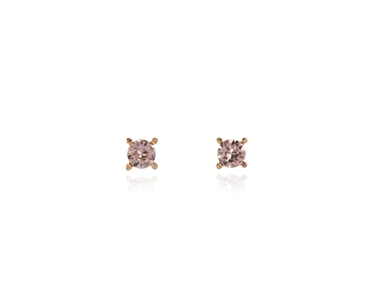 Cachet Swarovski Crystal  Laine Pierced Earrings Pink Gold Vintage Rose