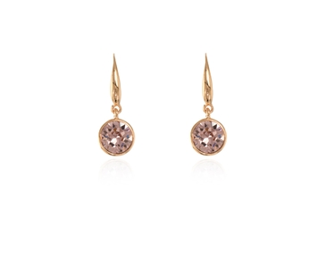 Cachet Swarovski Crystal  Ebba Lever Back Earrings Pink Gold