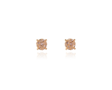 Cachet Swarovski Crystal  Paiva Pierced Earrings Pink Gold