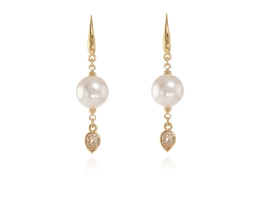 Cachet Swarovski Crystal  Saki Lever Back Earrings Gold