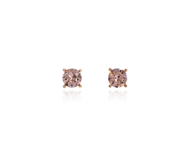 Cachet Swarovski Crystal  Laine Pierced Earrings Pink Gold