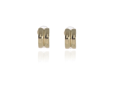 Swarovski Crystal  Suzy Clip Earrings  | Gold Polished