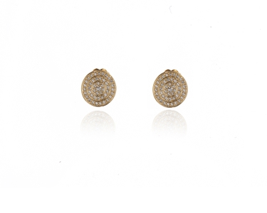 Swarovski Crystal  Roto Clip Earrings  | Gold Crystal