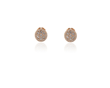 Swarovski Crystal  Kadri Clip Earrings  | Pink Gold Crystal