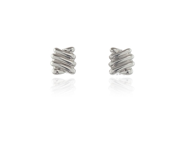 Swarovski Crystal  Ece Clip Earrings  | Rhodium Polished