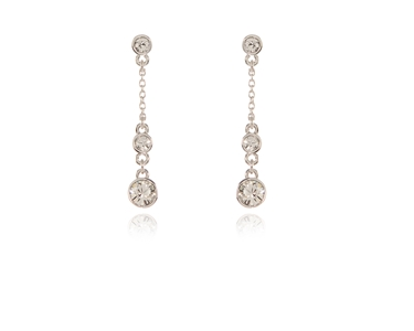 Cachet Swarovski Crystal  Drea Pierced Earrings Rhodium