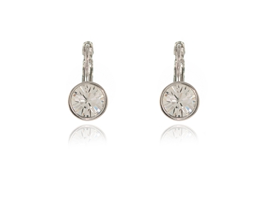 Cachet Swarovski Crystal  Elise Lever Back Earrings Rhodium