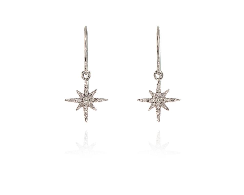 Cachet Swarovski Crystal North Star Earrings Earrings Rhodium ... 957cd7e7e2