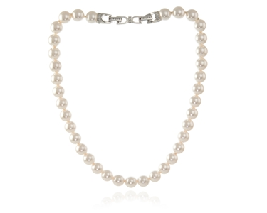 Cachet Swarovski Crystal  Mac Necklace Rhodium 10mm