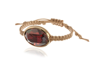 Swarovski Crystal  Maddy Nautical Cord Bracelet  | Gold Red Magma