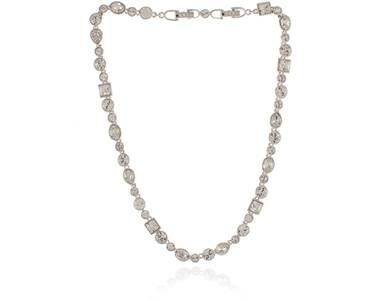 Cachet Swarovski Crystal  Bea Necklace Rhodium