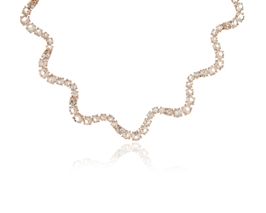 Cachet Swarovski Crystal  Elena Necklace Pink Gold