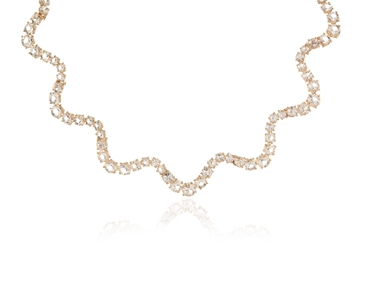 Cachet Swarovski Crystal  Elena Necklace Gold