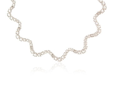 Cachet Swarovski Crystal  Elena Necklace Rhodium