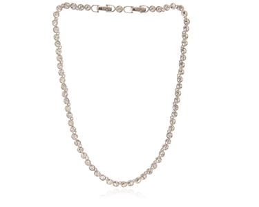 Cachet Swarovski Crystal  Tennis Necklace Rhodium