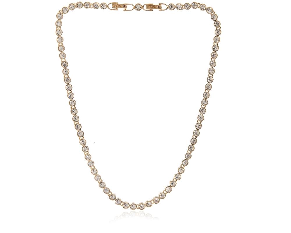 d7246c9b7b497 Cachet Swarovski Crystal Tennis Necklace Gold