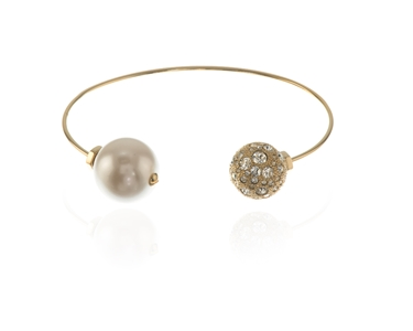 Cachet Swarovski Crystal  Xaria Spring Bangle Gold