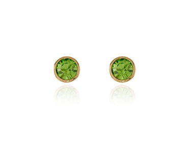 Swarovski Crystal  Thisbe Pierced Earrings  | Gold Peridot