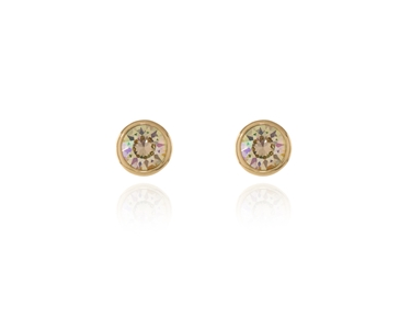 Swarovski Crystal  Thisbe Pierced Earrings  | Gold Luminous Green