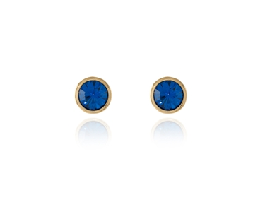 Swarovski Crystal  Thisbe Pierced Earrings  | Gold Capri Blue
