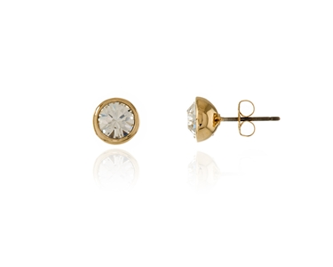 Swarovski Crystal  Thisbe Pierced Earrings  | Gold Crystal