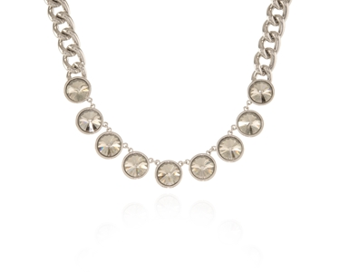 Cachet Swarovski Crystal  Rahiq Necklace Rhodium