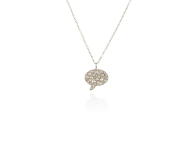 Swarovski Crystal  Bubble Pendant  | Rhodium Crystal