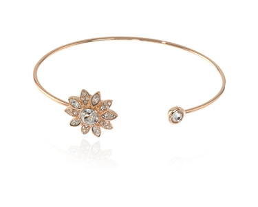 Cachet Swarovski Crystal  Dania Spring Bangle Pink Gold