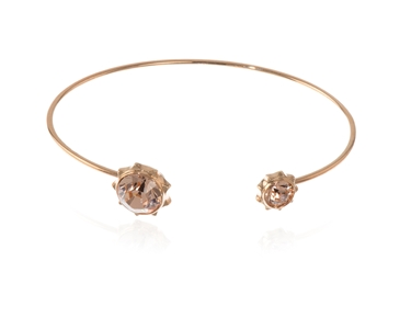 Cachet Swarovski Crystal  Bly Spring Bangle Pink Gold Light Peach