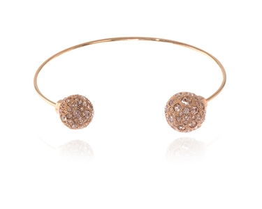 Cachet Swarovski Crystal  Buffy Spring Bangle Pink Gold