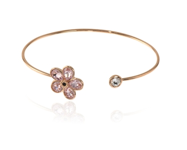 Cachet Swarovski Crystal  Forget me not Spring Bangle Pink Gold