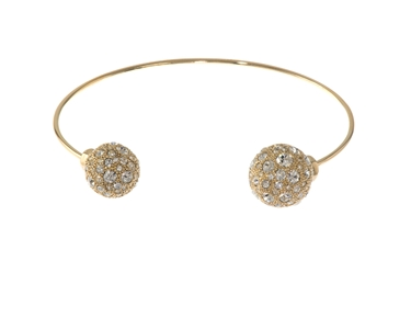 Cachet Swarovski Crystal  Buffy Spring Bangle Gold